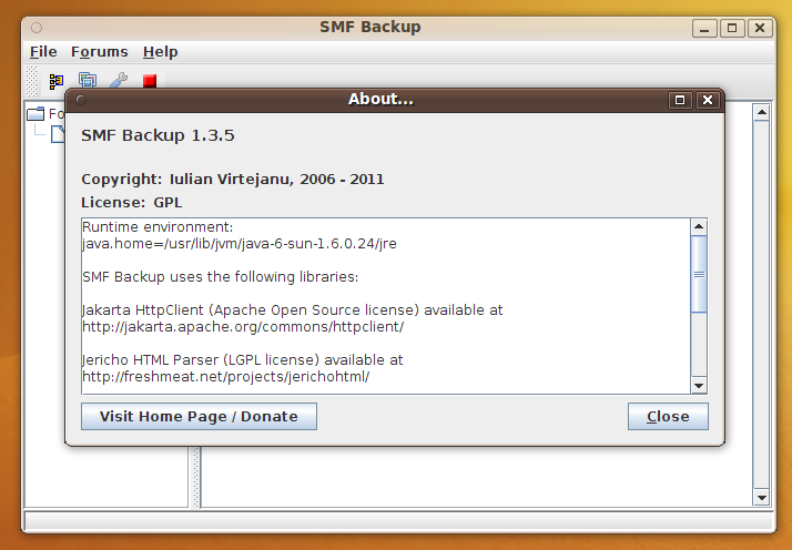 Java SMF Backup – and thus goes by another day